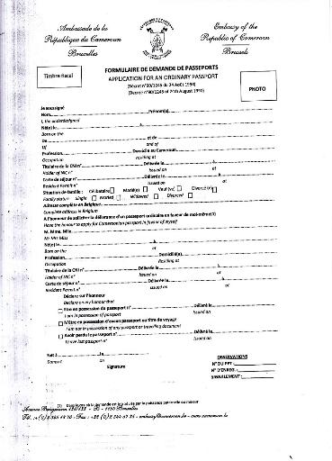 iii formulaires de demande de passeport de visa et de carte consulaire ...
