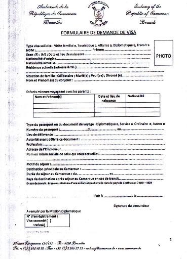 annexe iii formulaires de demande de passeport de visa et de carte ...