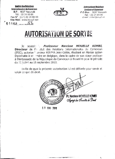 encadrement des ressortissants camerounais par l'ambassade du ...