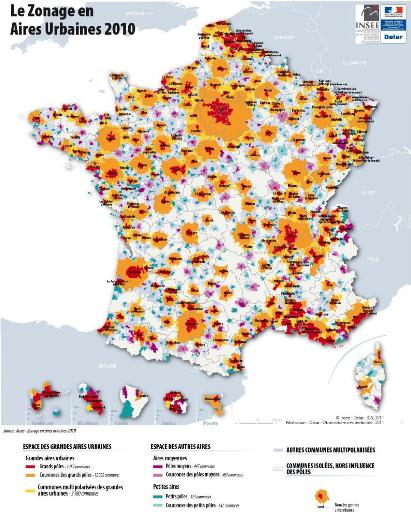 Cartes Villes Francaises Selon Leur Population