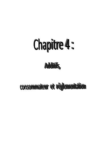 Memoire Online Les Additifs Alimentaires Dans Lalimentation