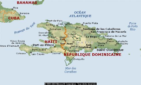 Carte   République Dominicaine   Haïti