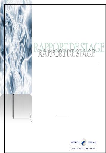 memoire rapport de stage effectu 233 224 la bmce bank banque marocaine du commerce