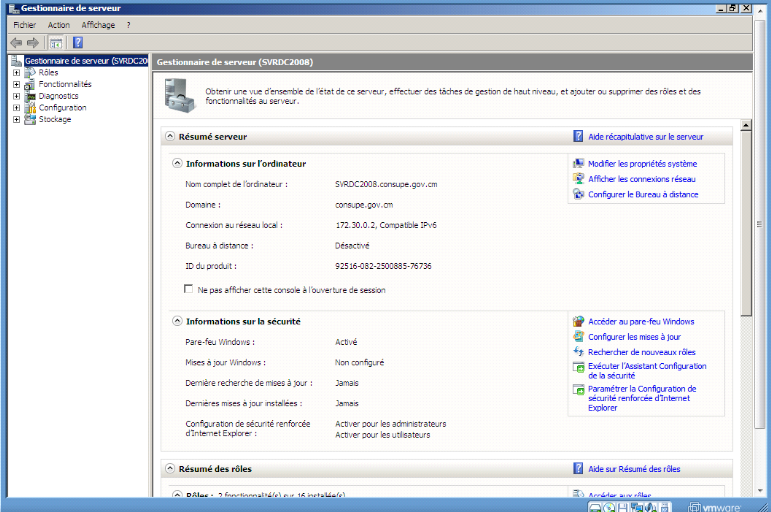 Memoire online mise en place d 39 un contr leur de domaine for Gestionnaire de fenetre