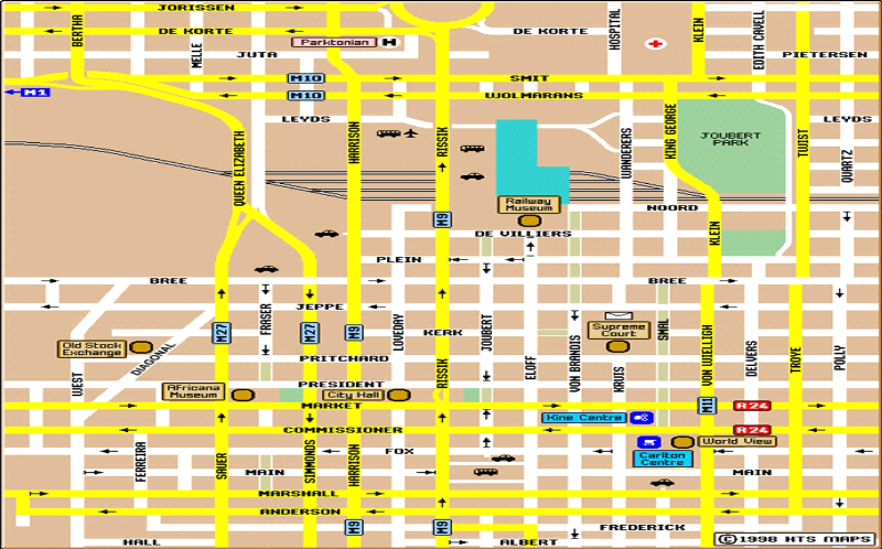 Images and Places Pictures and Info johannesburg city map
