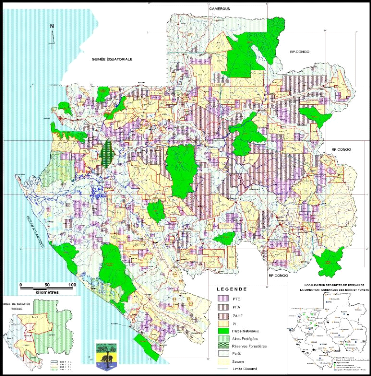 Carte N 3 Repartition Des Permis Dexploitation Forestiere Au Gabon Edition MAI