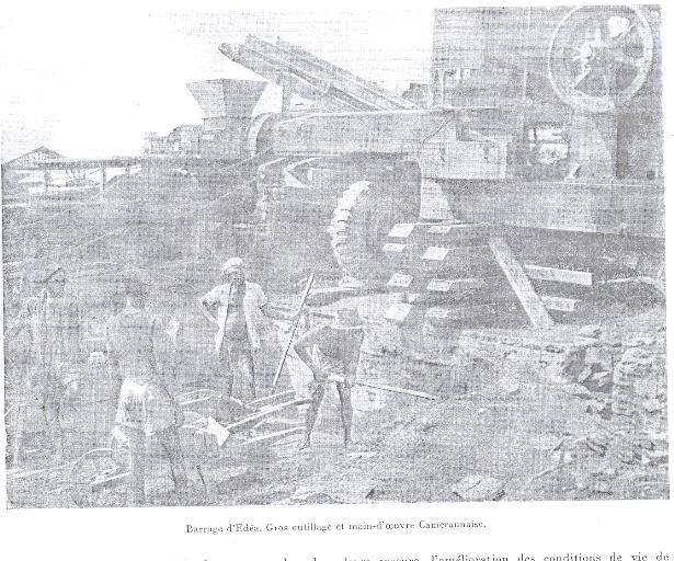 Au cours de la première phase daménagement edéa i de 1948 à 1953 la main doeuvre locale était affectée à des emplois de manoeuvres sans vérita