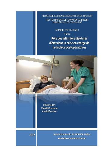 Memoire Online - Rôle des infirmiers diplômés d'état dans ...