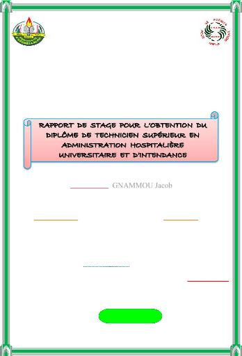 Memoire Online Gestion Des Services Hospitaliers Jacob