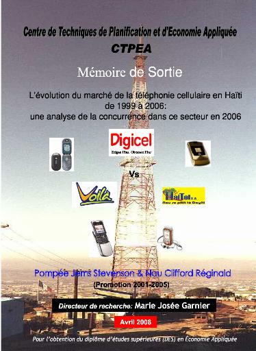 Memoire Online - L'évolution du marché de la téléphonie cellulaire