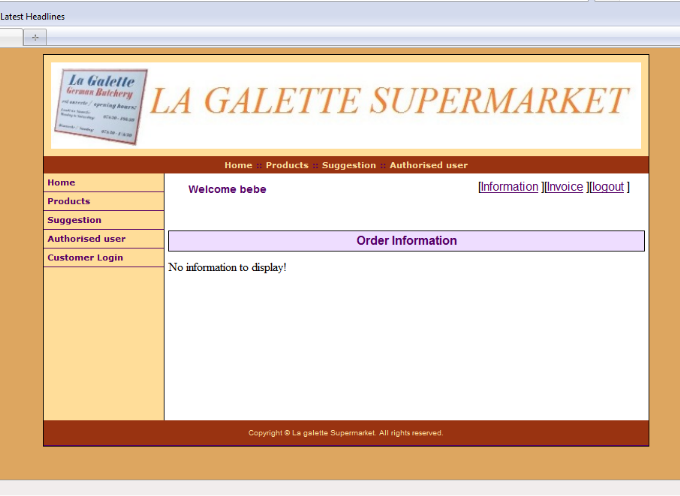 Memoire Online - Online ordering and inventory system - Jean