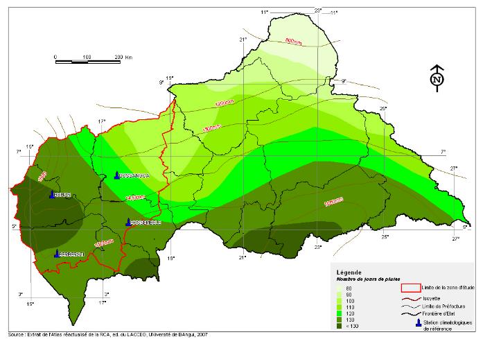 centrafrique climat et meteo-