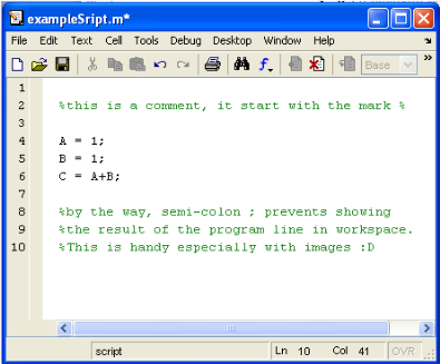 matlab write own help