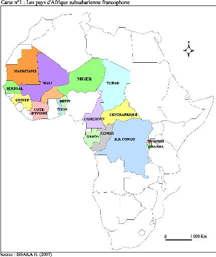 Carte De Lafrique Francophone.Memoire Online L Habitat Informel Dans Les Villes D