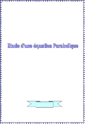 Exemple et méthode de résolution d'une EDP