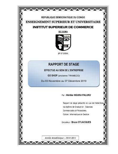 Memoire Online - Conception pour la gestion d un système d information pour  la gestion des stocks dans une entreprise commerciale. 7c2b7dbfc72