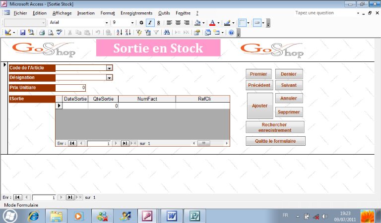 Memoire online conception pour la gestion d 39 un syst me d for Bureau stock 13