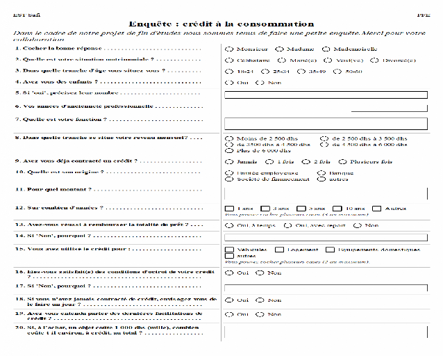 Exemple Questionnaire De Satisfaction Client Automobile Document Online