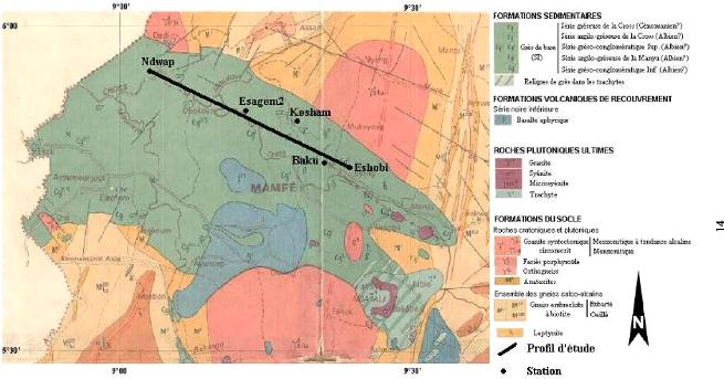 Carte Geologique Afrique Du Sud.Memoire Online Prospection Par La Methode Helio