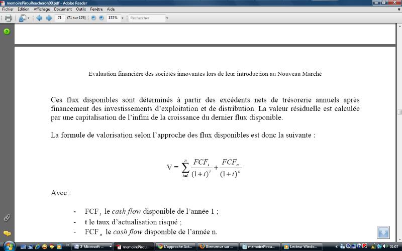 Memoire Online La Valorisation Des Societes Francaises Introduites