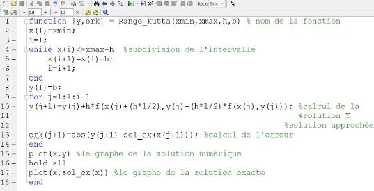 équations différentielles sous Matlab